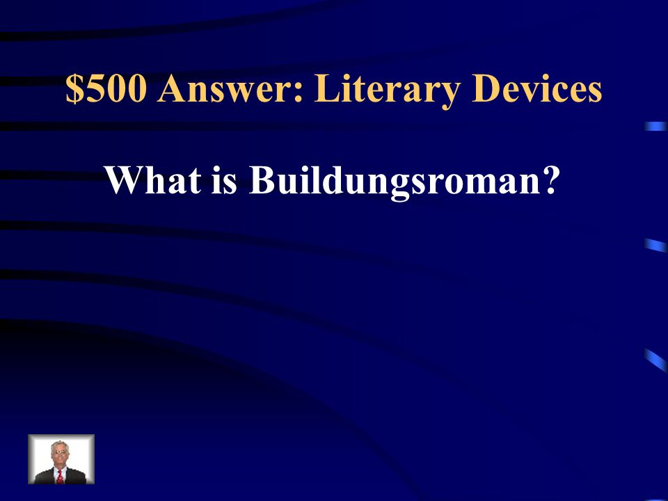 $500 Answer: Literary Devices