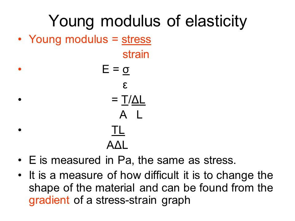 Young modulus of elasticity