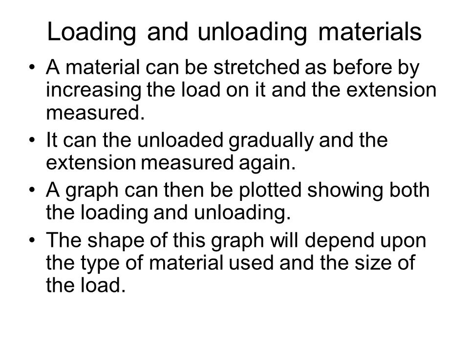 Loading and unloading materials
