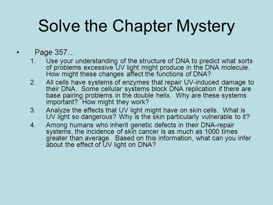 Solve the Chapter Mystery
