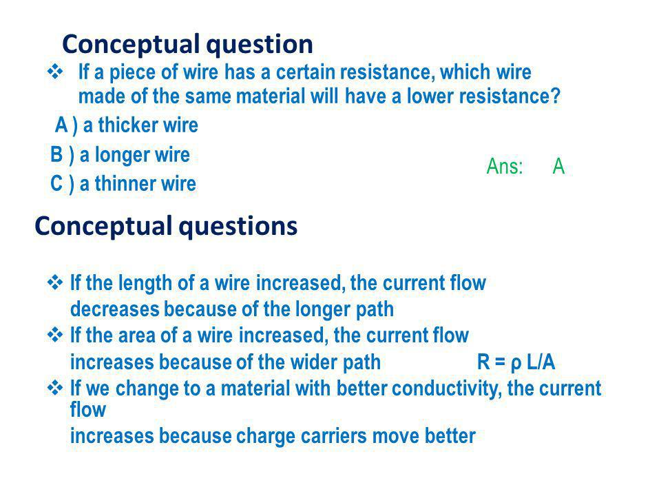 Conceptual question Conceptual questions
