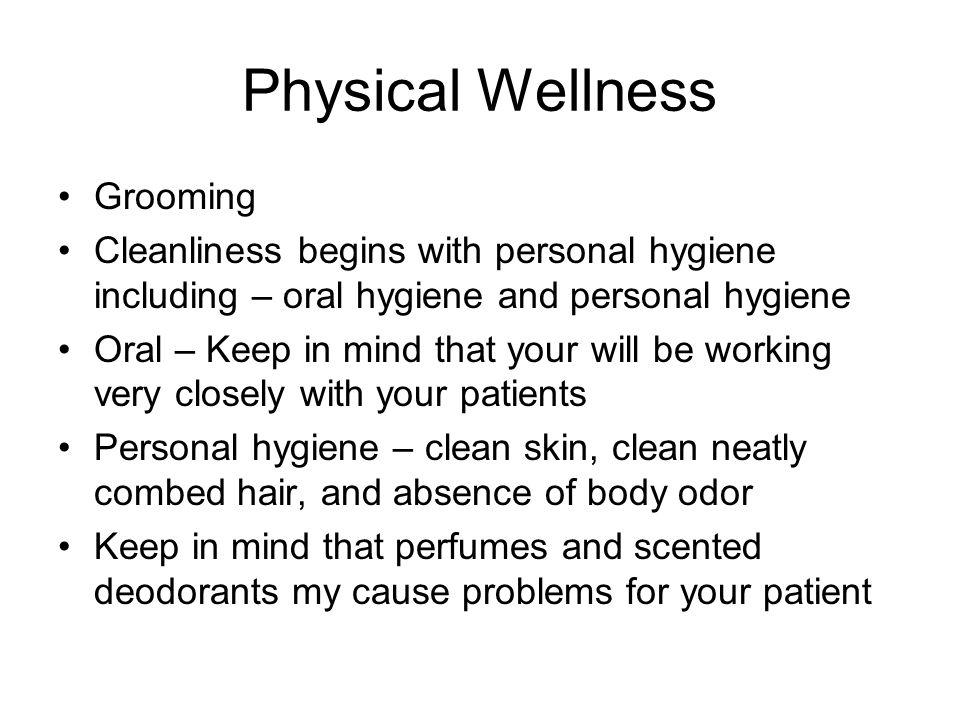 Physical Wellness Grooming
