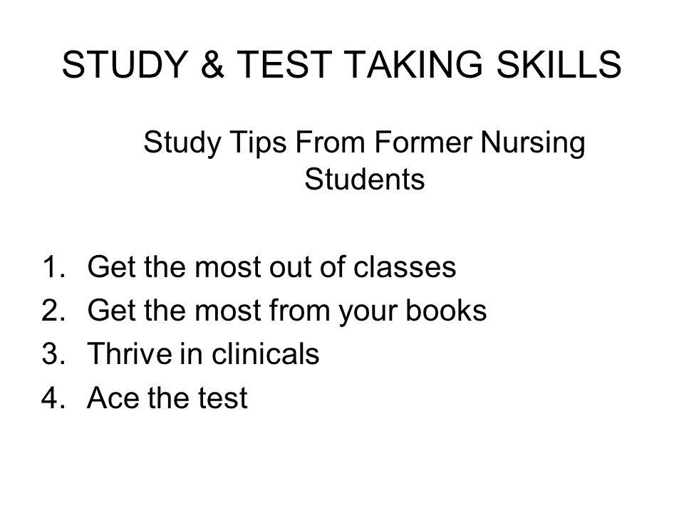 STUDY & TEST TAKING SKILLS