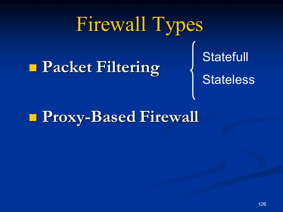 Packet Filtering Proxy-Based Firewall