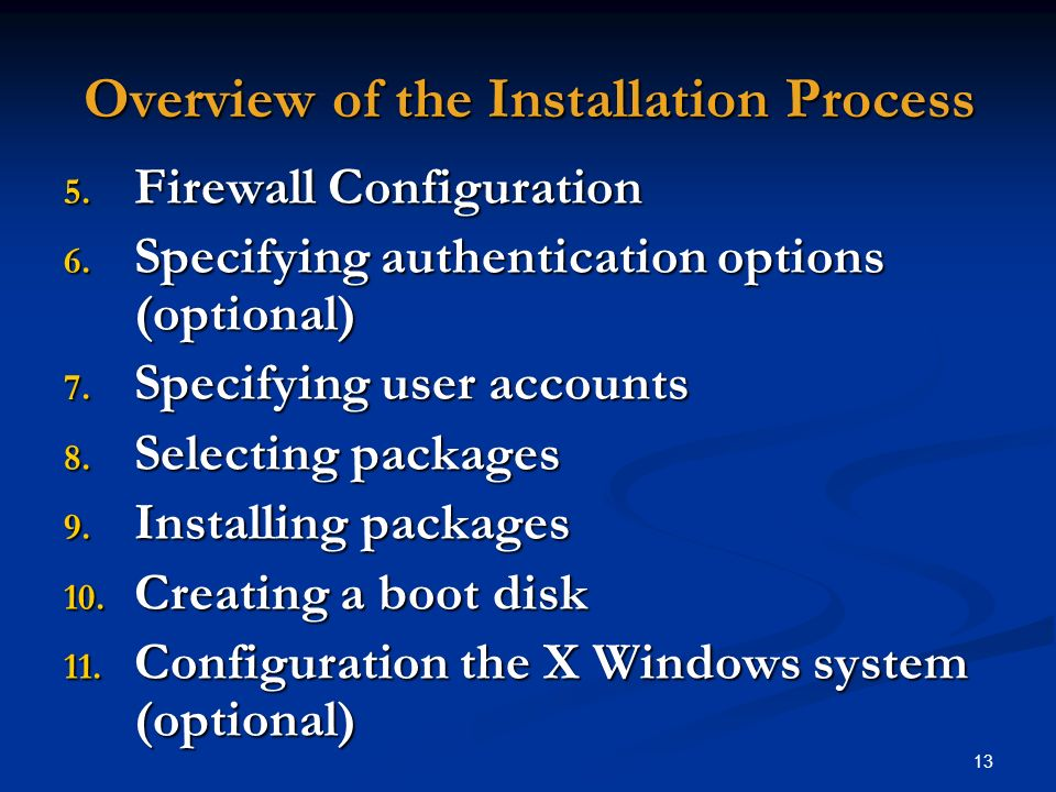 Overview of the Installation Process