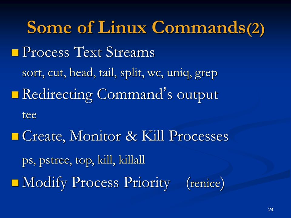 Some of Linux Commands(2)