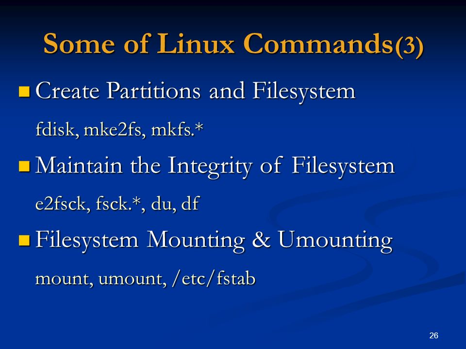 Some of Linux Commands(3)