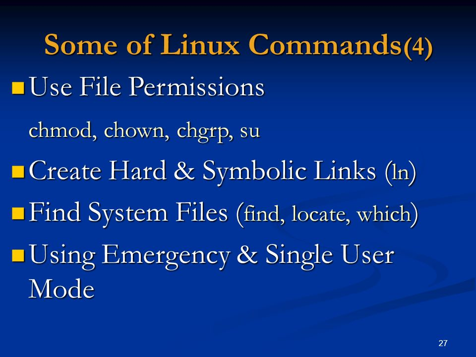 Some of Linux Commands(4)