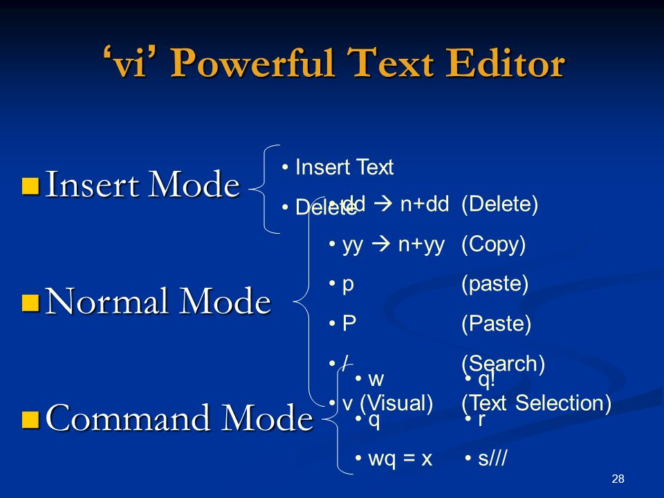 'vi' Powerful Text Editor