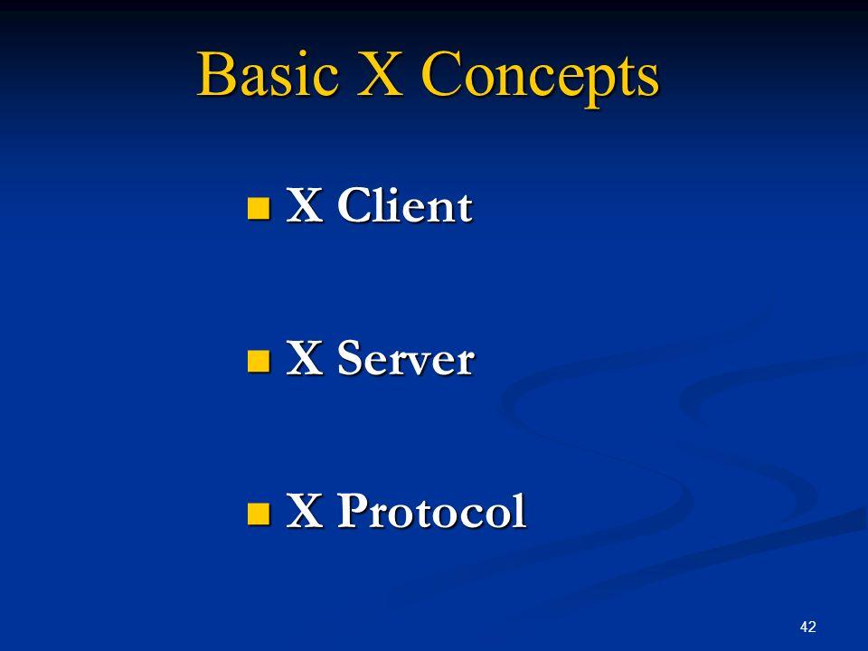 X Client X Server X Protocol