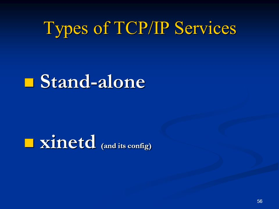 Types of TCP/IP Services