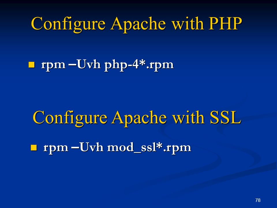 Configure Apache with PHP