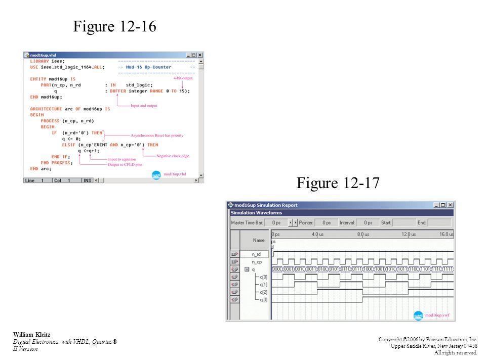 Figure 12-16 Figure 12-17. William Kleitz Digital Electronics with VHDL, Quartus® II Version.