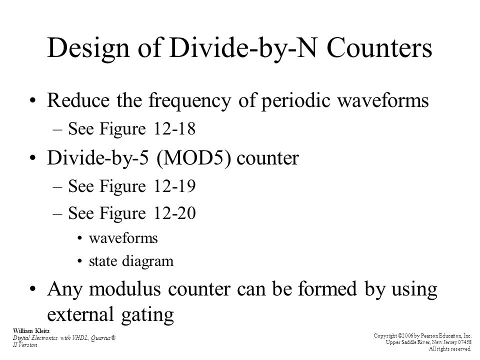 Design of Divide-by-N Counters