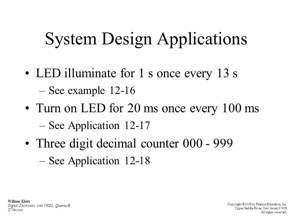 System Design Applications
