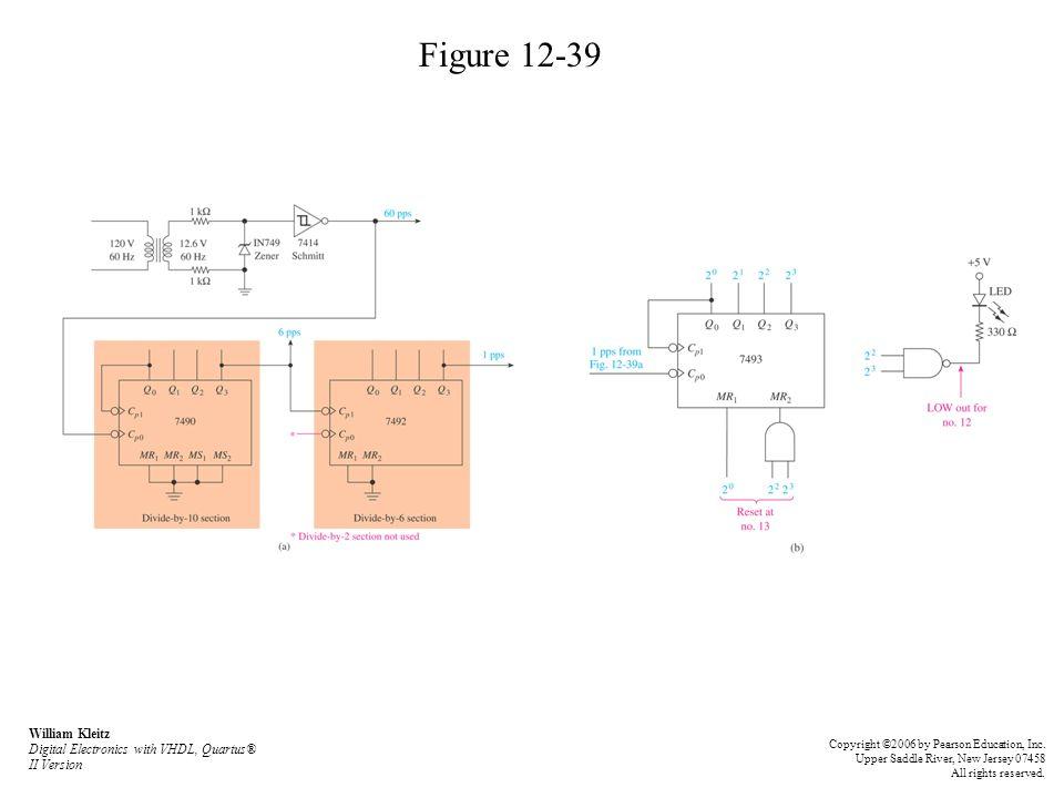 Figure 12-39 William Kleitz Digital Electronics with VHDL, Quartus® II Version.