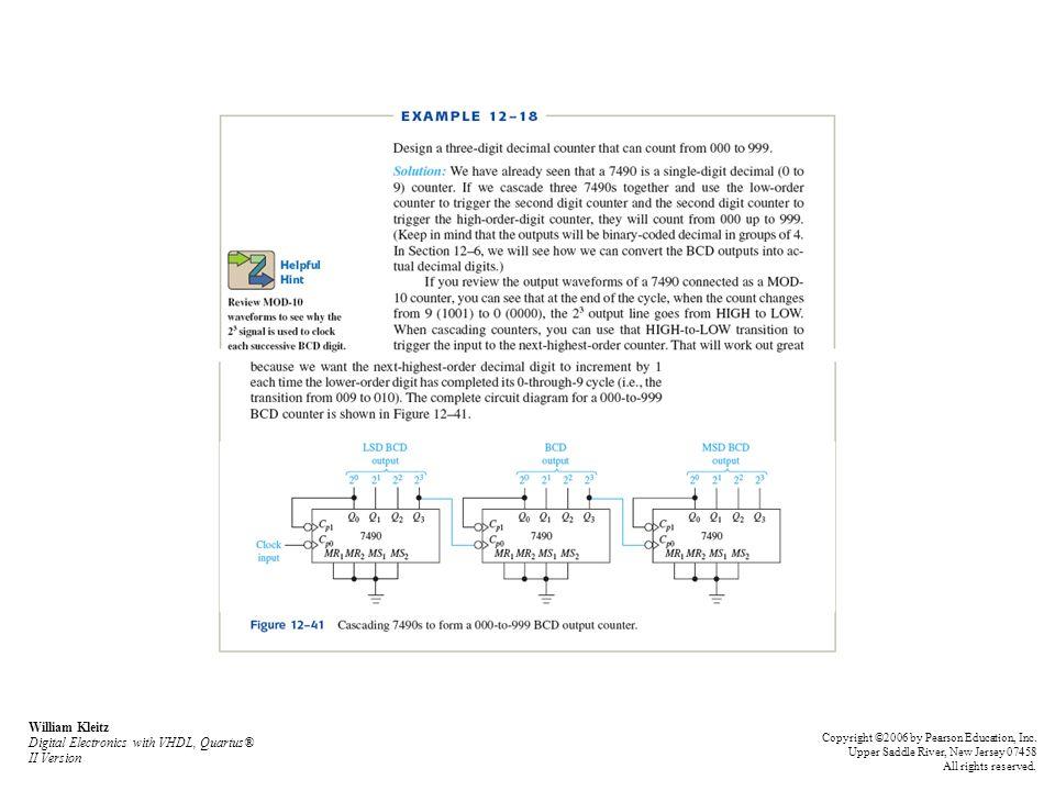 William Kleitz Digital Electronics with VHDL, Quartus® II Version