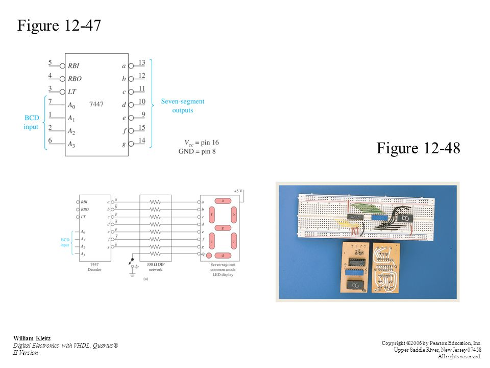 Figure 12-47 Figure 12-48. William Kleitz Digital Electronics with VHDL, Quartus® II Version.