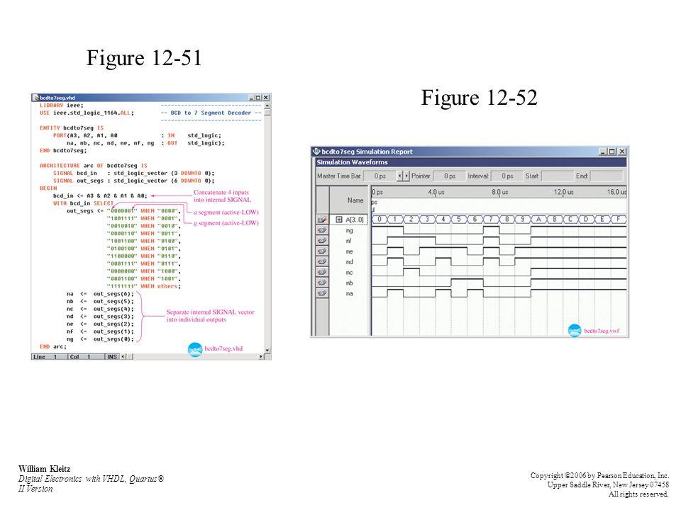Figure 12-51 Figure 12-52. William Kleitz Digital Electronics with VHDL, Quartus® II Version.