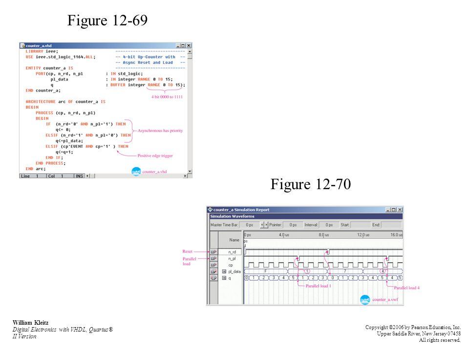 Figure 12-69 Figure 12-70. William Kleitz Digital Electronics with VHDL, Quartus® II Version.