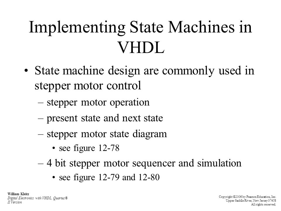 Implementing State Machines in VHDL