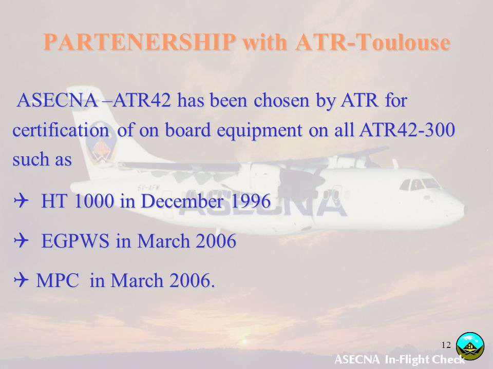PARTENERSHIP with ATR-Toulouse