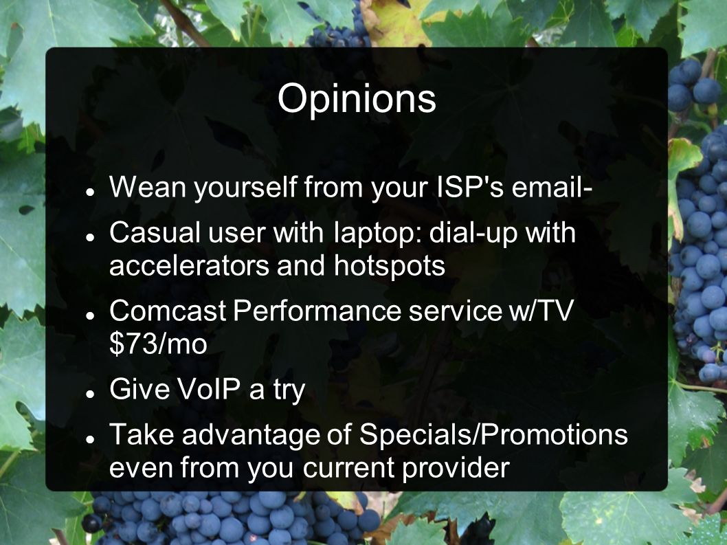 Opinions Wean yourself from your ISP s email-