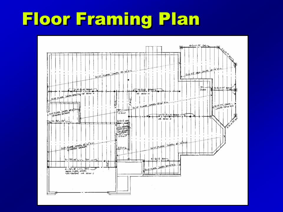 Floor Framing Plan Illustration may be found on page 184 of the text.