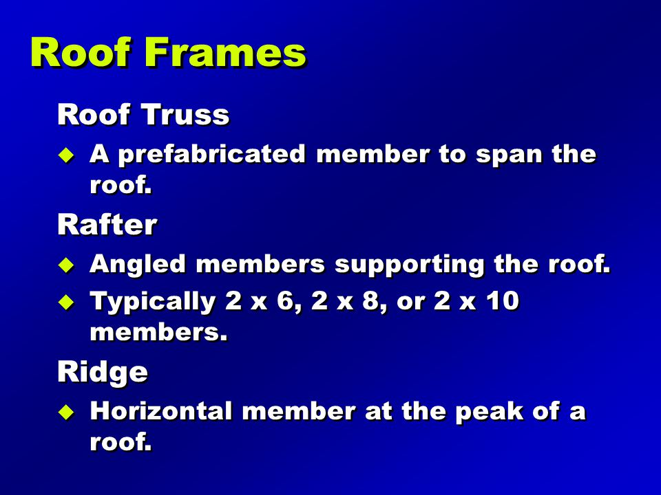 Roof Frames Roof Truss Rafter Ridge