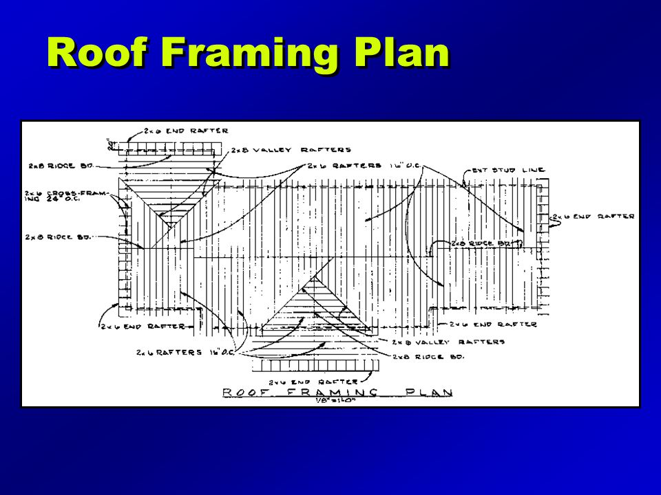 Roof Framing Plan Illustration may be found on page 190 of the text.