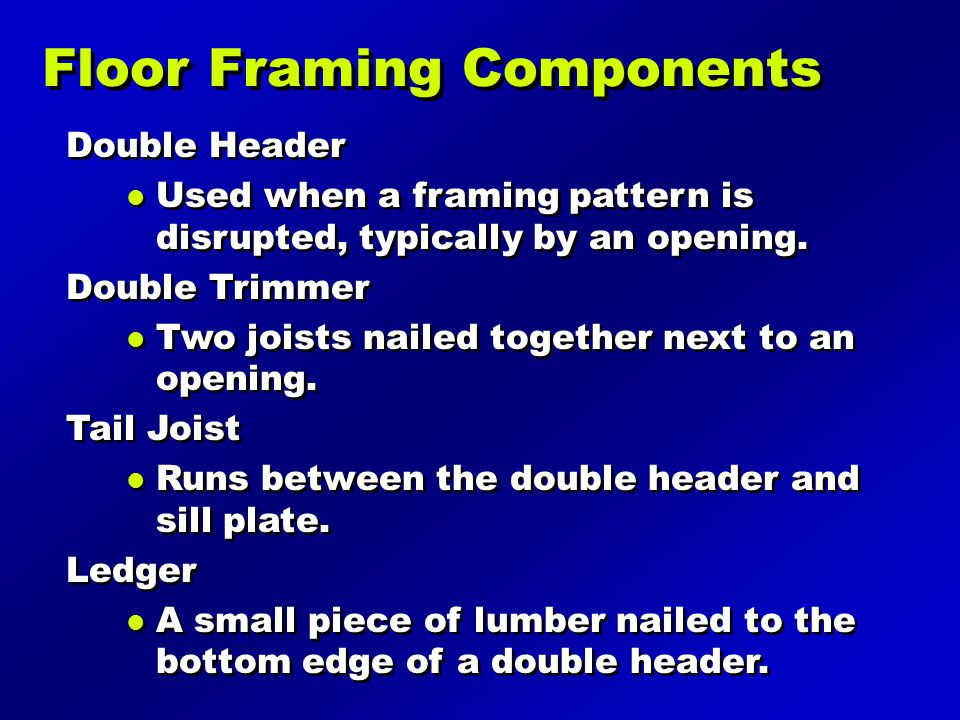 Floor Framing Components