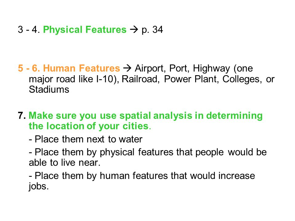 3 - 4. Physical Features  p. 34