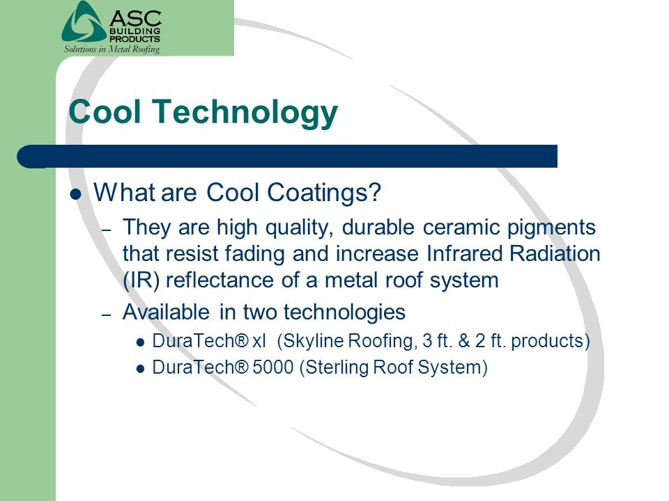 Cool Technology What are Cool Coatings