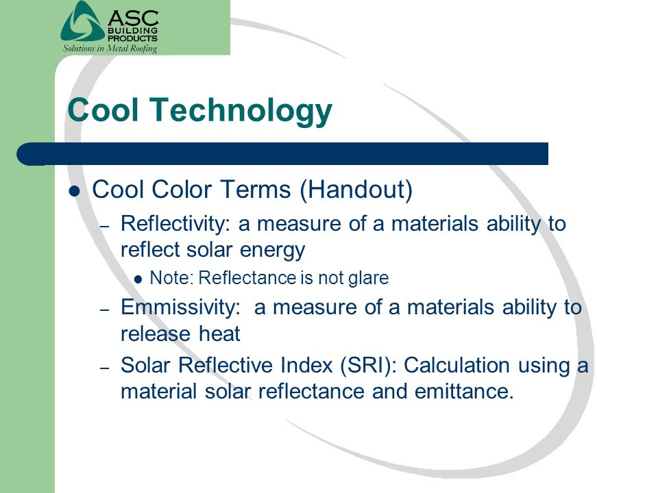 Cool Technology Cool Color Terms (Handout)