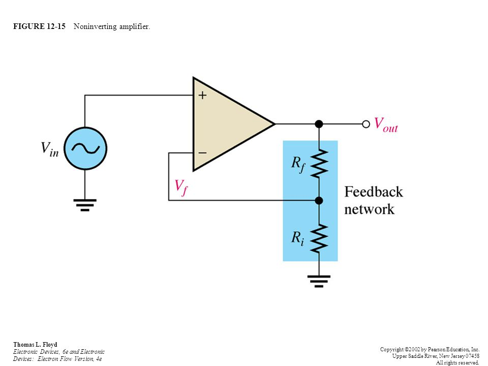 FIGURE 12-15 Noninverting amplifier.