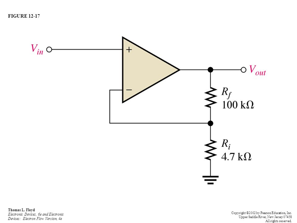 FIGURE 12-17 Thomas L. Floyd Electronic Devices, 6e and Electronic Devices: Electron Flow Version, 4e.