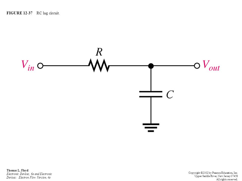 FIGURE 12-37 RC lag circuit. Thomas L. Floyd Electronic Devices, 6e and Electronic Devices: Electron Flow Version, 4e.