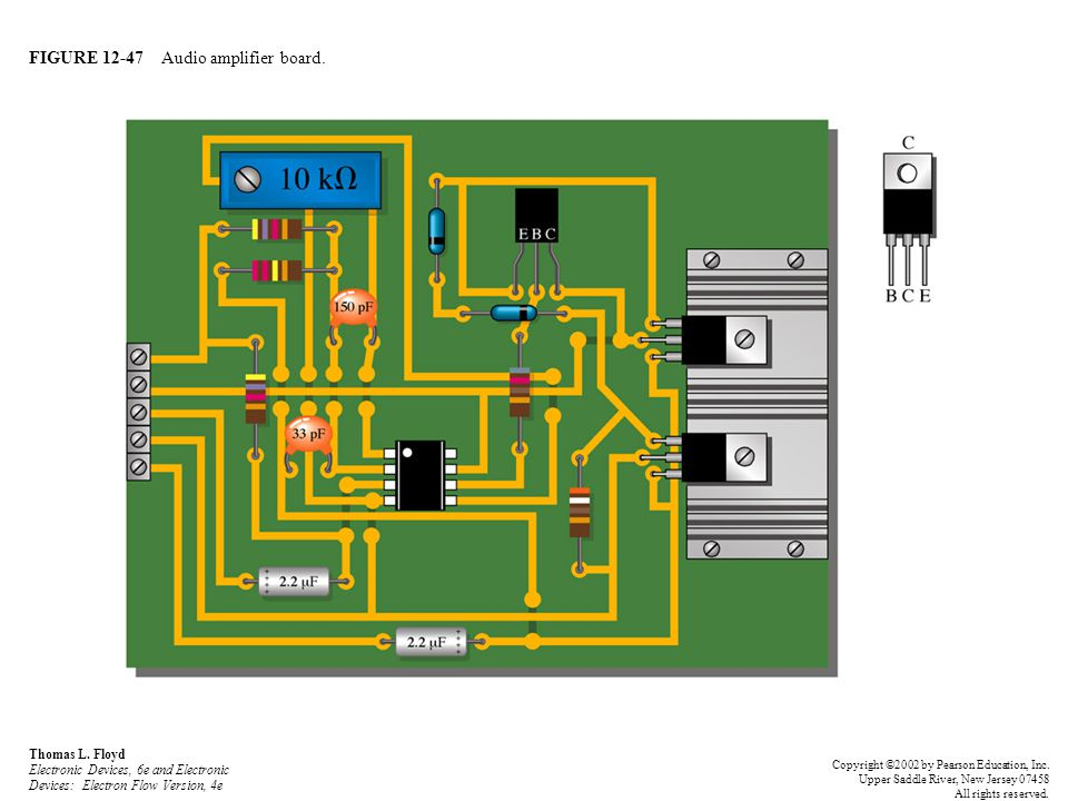 FIGURE 12-47 Audio amplifier board.