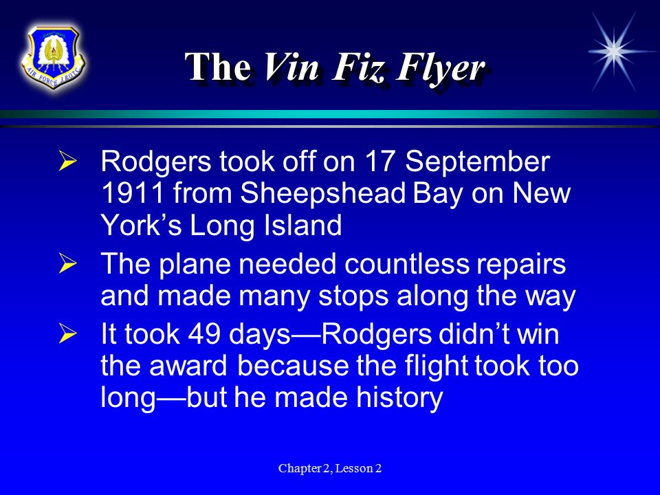 The Vin Fiz Flyer Rodgers took off on 17 September 1911 from Sheepshead Bay on New York's Long Island.
