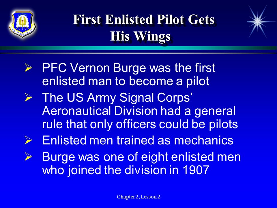 First Enlisted Pilot Gets His Wings