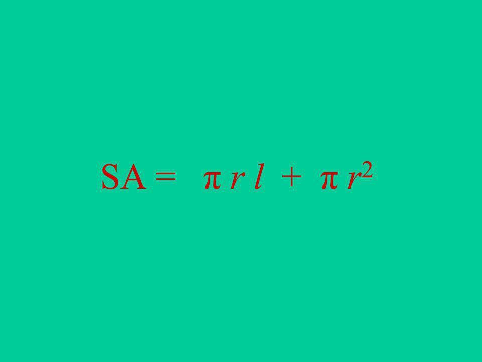 SA = π r l + π r2