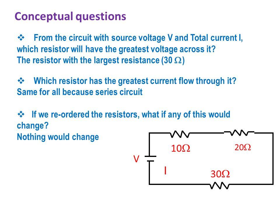 Conceptual questions I 10 V 30