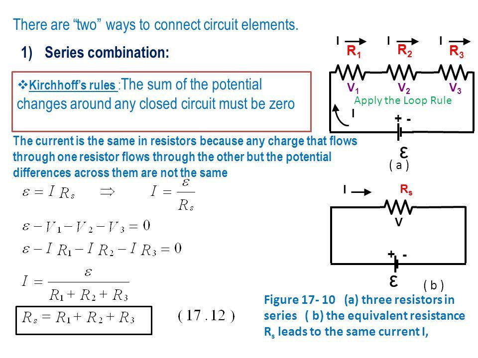 ε ε There are two ways to connect circuit elements.