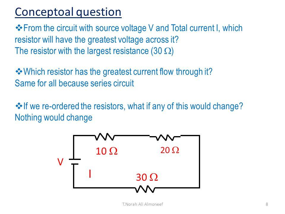 Conceptoal question I 10  V 30 