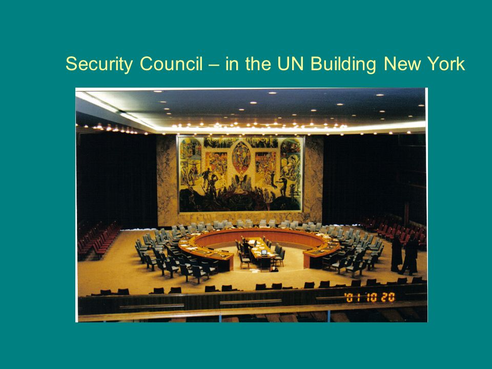Security Council – in the UN Building New York