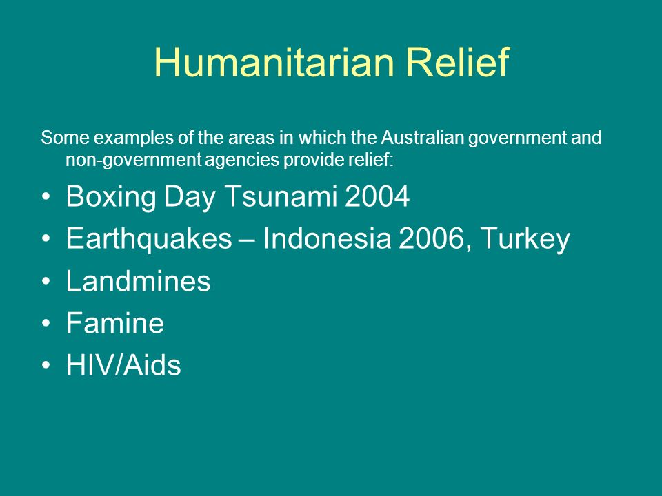 Humanitarian Relief Boxing Day Tsunami 2004