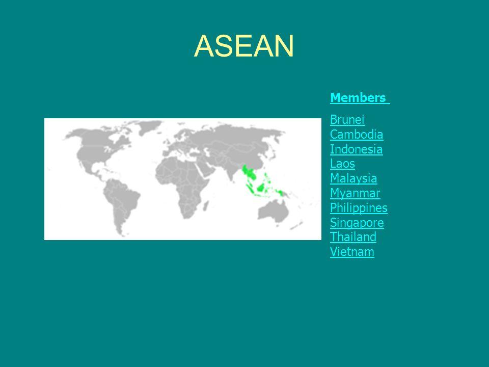 ASEAN Members Brunei Cambodia Indonesia Laos Malaysia Myanmar Philippines Singapore Thailand Vietnam.