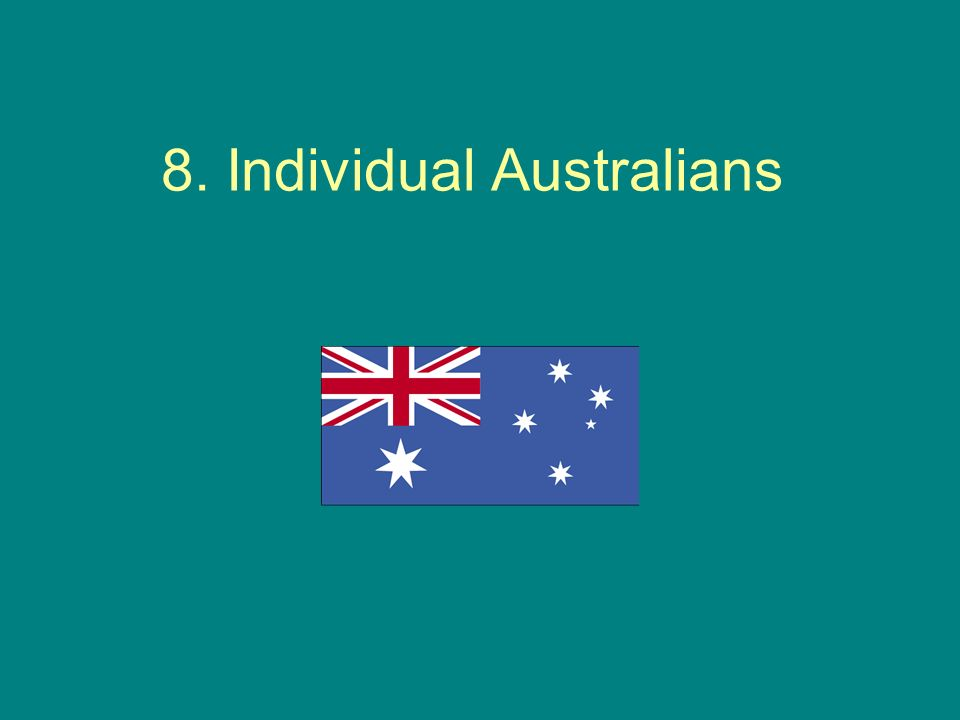 8. Individual Australians