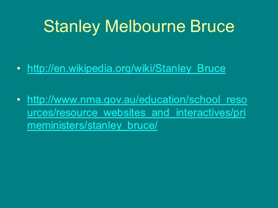 Stanley Melbourne Bruce