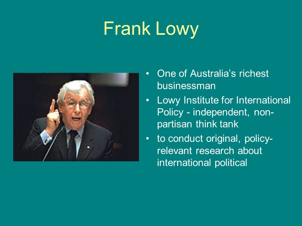 Frank Lowy One of Australia's richest businessman